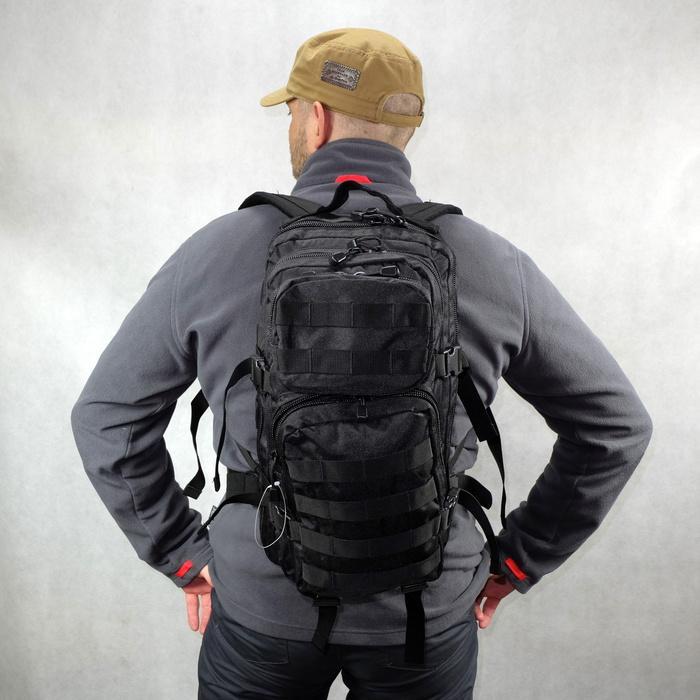 661d7b0650ccc Plecak firmy Mil-Tec Assault Pack II posiada typową budowę dla plecaków  taktycznych, pozwalających je dowolnie konfigurować w dodatkowy osprzęt /  torby, ...