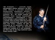 """okładka – strona II autorskiego tomiku poezji """"Na krawędzi"""""""